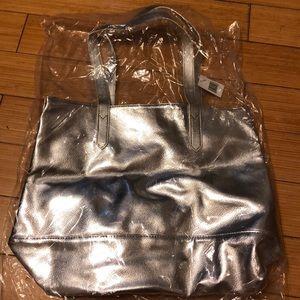 Bloomingdale's silver tote